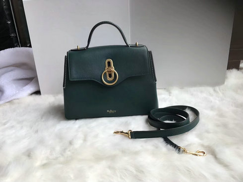 2018 New Mulberry Small Seaton Bag Green Silky Calf Leather