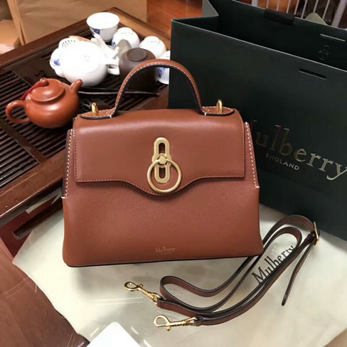 2018 New Mulberry Small Seaton Bag Tan Silky Calf Leather
