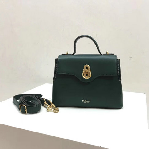 2018 New Mulberry Mini Seaton Bag Green Calf Leather