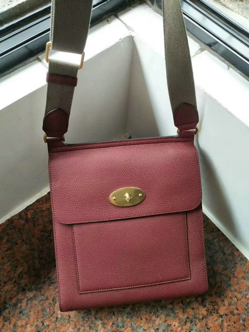 2018 Mulberry New Antony Oxblood Small Classic Grain Leather