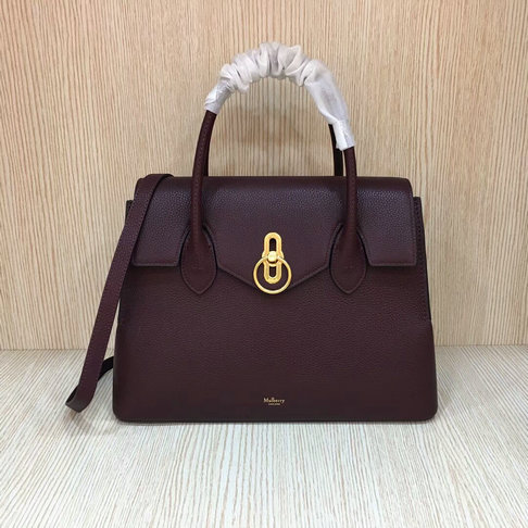 2018 New Mulberry Seaton Bag Oxblood Small Classic Grain Leather