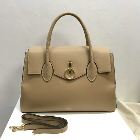 2018 New Mulberry Seaton Bag Apricot Silky Calf Leather