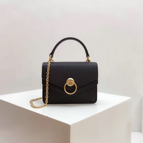 2018 Mulberry Small Harlow Bag Black Classic Grain Leather