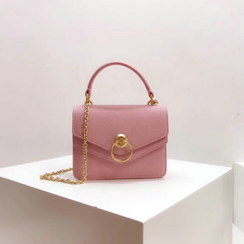 2018 Mulberry Small Harlow Bag Pink Classic Grain Leather