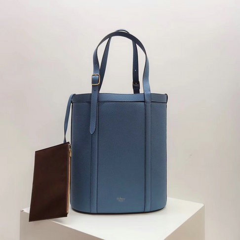 2018 Mulberry Small Wilton Tote Lavender Blue Small Classic Grain