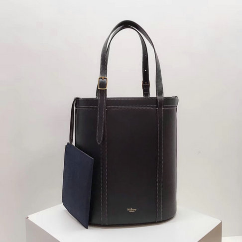 2018 Mulberry Small Wilton Tote Midnight Silky Calf