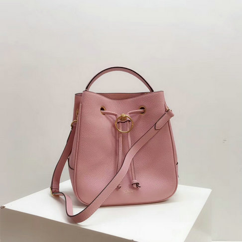 2019 Mulberry Hampstead Bucket Bag Pink Small Classic Grain