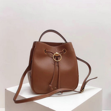 2019 Mulberry Hampstead Bucket Bag Tan Silky Calf