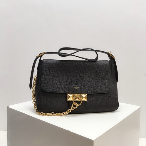 2019 Mulberry Keeley Bag in Black Heavy Grain Leather