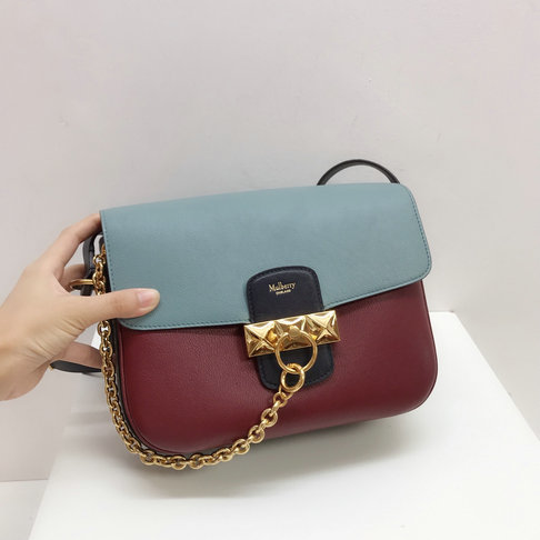 2019 Mulberry Keeley Satchel Crimson Multi-Coloured Colour Block
