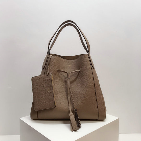 2019 Mulberry Millie Tote Apricot Heavy Grain Leather