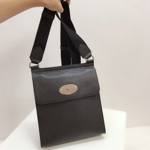 2019 Mulberry New Antony Bag in Black Grain Leather
