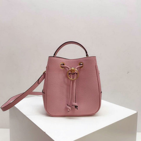 2019 Mulberry Small Hampstead Bucket Bag Pink Small Classic Grain