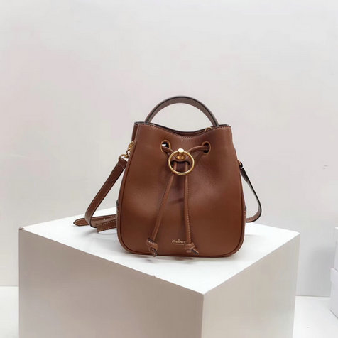 2019 Mulberry Small Hampstead Bucket Bag Tan Silky Calf