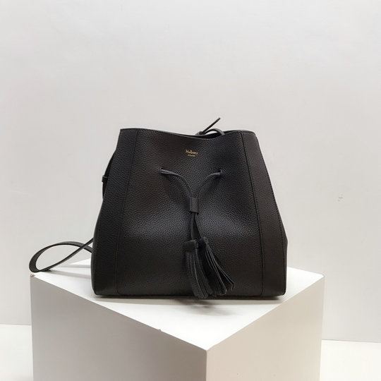 2019 Mulberry Small Millie Tote Black Heavy Grain Leather