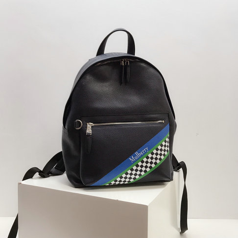 2019 Mulberry Zipped Backpack Midnight Racing Stripes