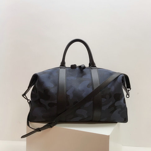 2019 Mulberry Small Weekender Tote Midnight & Black Camo Jacquard