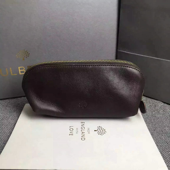 Cheap Mulberry Zip Around Purse in Chocolate Leather