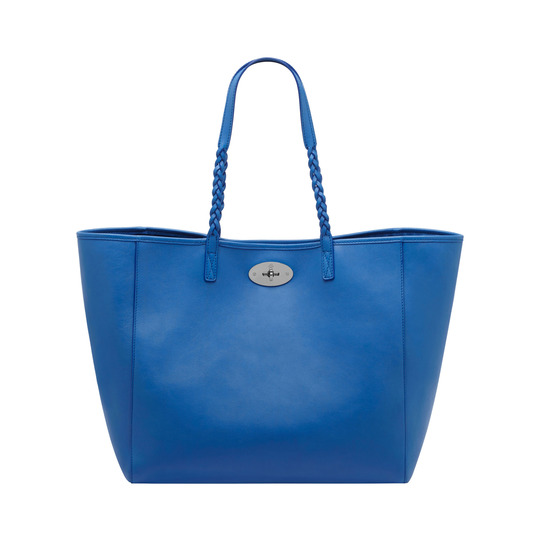 2014 Latest Mulberry Medium Dorset Tote Bluebell Blue Soft Nappa Leather