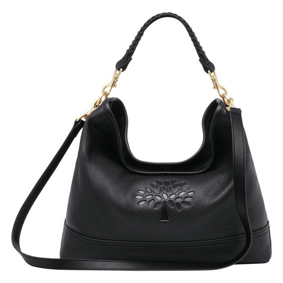 Mulberry Effie East West Hobo in Black Spongy Pebbled Leather