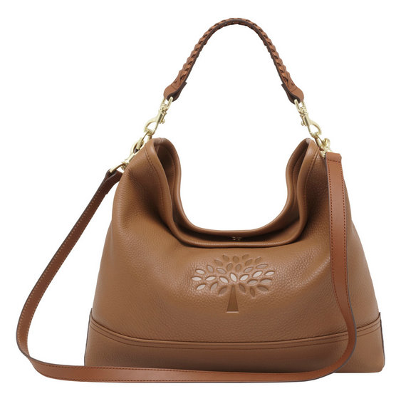 Mulberry Effie East West Hobo in Oak Spongy Pebbled Leather