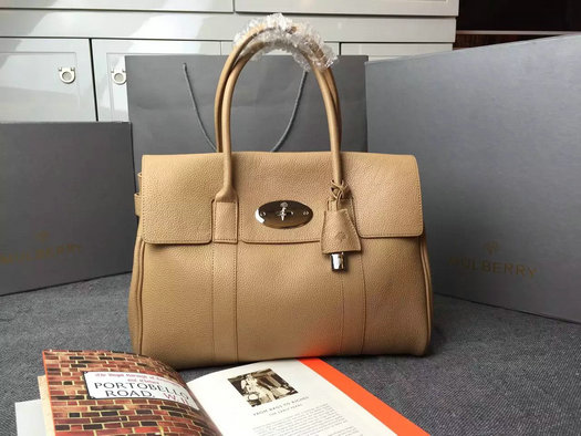 Hottest Mulberry Bayswater Handbag in Apricot Leather