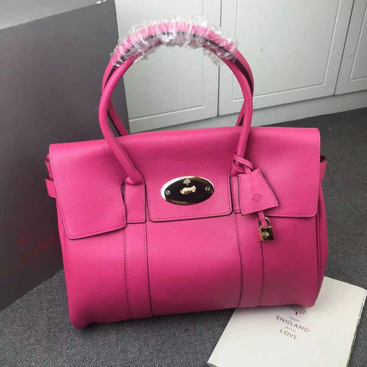 Hottest Mulberry Bayswater Handbag in Hot Pink Leather