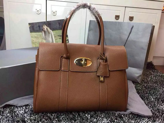 Hottest Mulberry Bayswater Handbag in Oak Leather