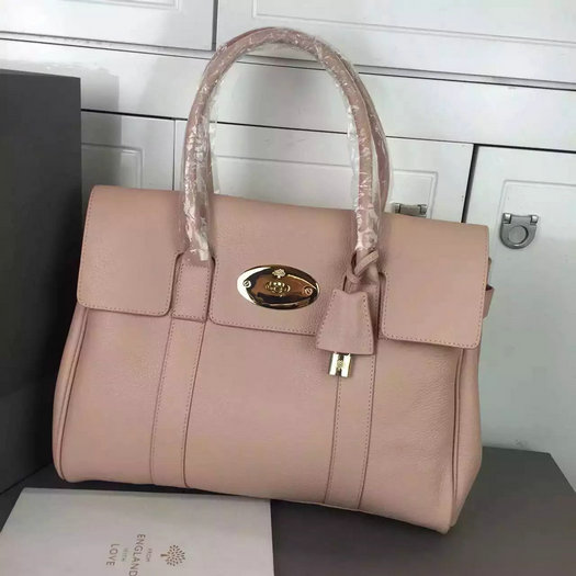 Hottest Mulberry Bayswater Handbag in Ballet Pink Leather