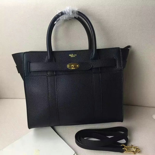 Winter 2016 Mulberry Small Zipped Bayswater Black Small Classic Grain