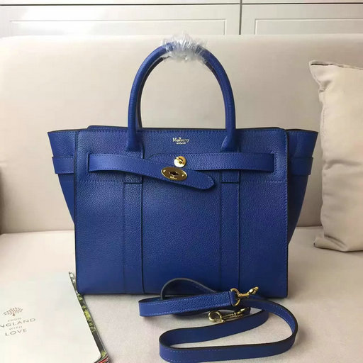 Winter 2016 Mulberry Small Zipped Bayswater Porcelain Blue Small Classic Grain