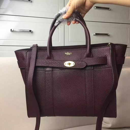 Winter 2016 Mulberry Small Zipped Bayswater Oxblood Small Classic Grain