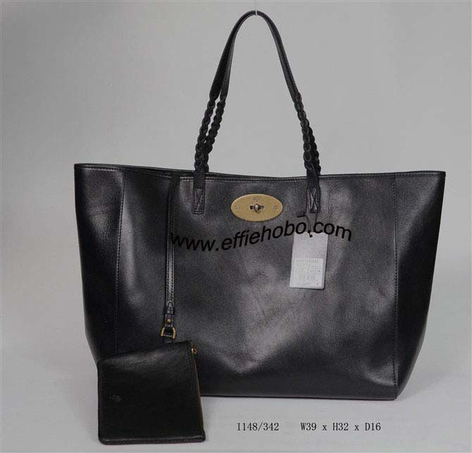 Mulberry Large Dorset Tote Bag 1148.Black Leather