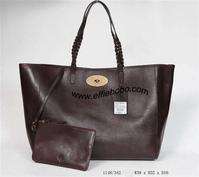 Mulberry Large Dorset Tote Bag 1148.Chocolate Leather