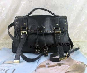 Mulberry Tassel Studded Bag Black Leather