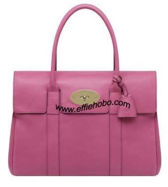 Mulberry Bayswater Bag Raspberry Glossy Goat Leather