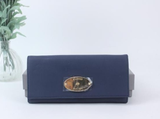 Mulberry Continental Wallet in Dark Blue Leather