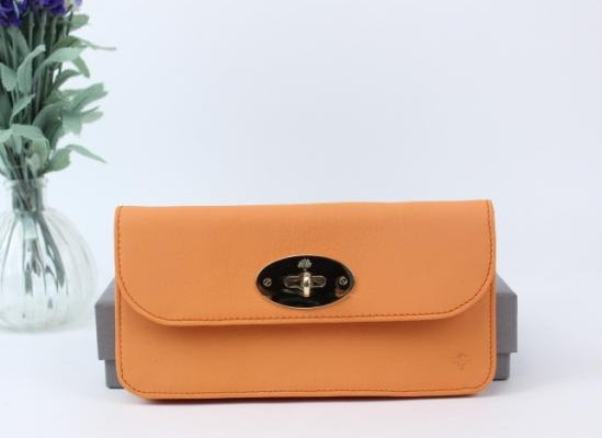 Mulberry Long Locked Purse in Orange Leather