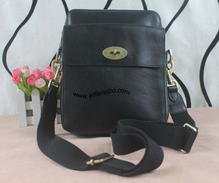 Mulberry Postmans Lock Reporter Black Natural Leather