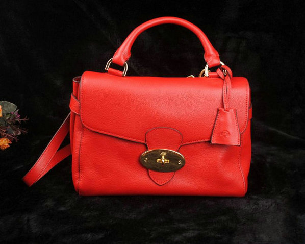 Mulberry Primrose Bag Bright Red Polished Calf