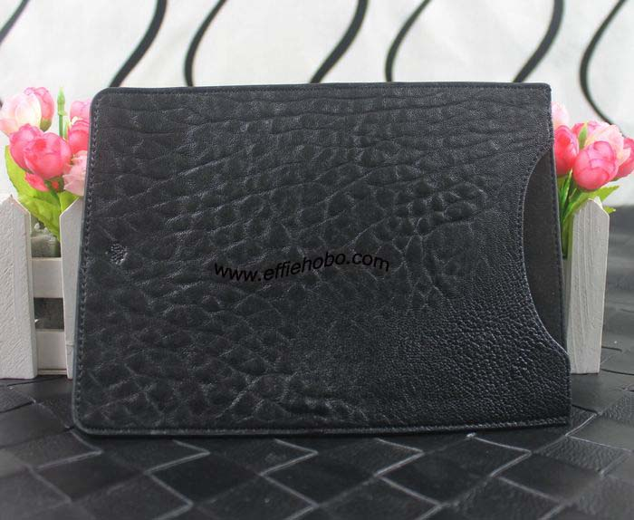 Mulberry Simple Ipad Sleeve in Black Shrunken Leather