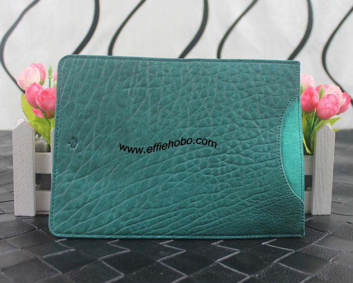 Mulberry Simple Ipad Sleeve in Green Shrunken Leather