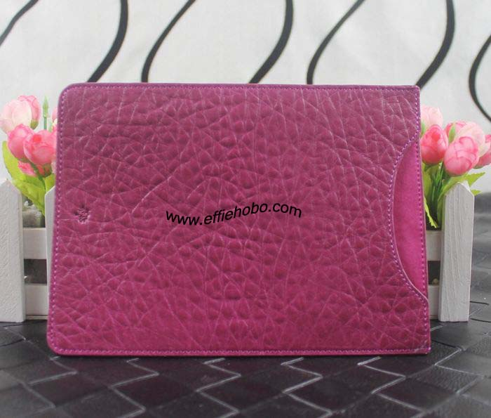 Mulberry Simple Ipad Sleeve in Hot Fuchsia Shrunken Leather