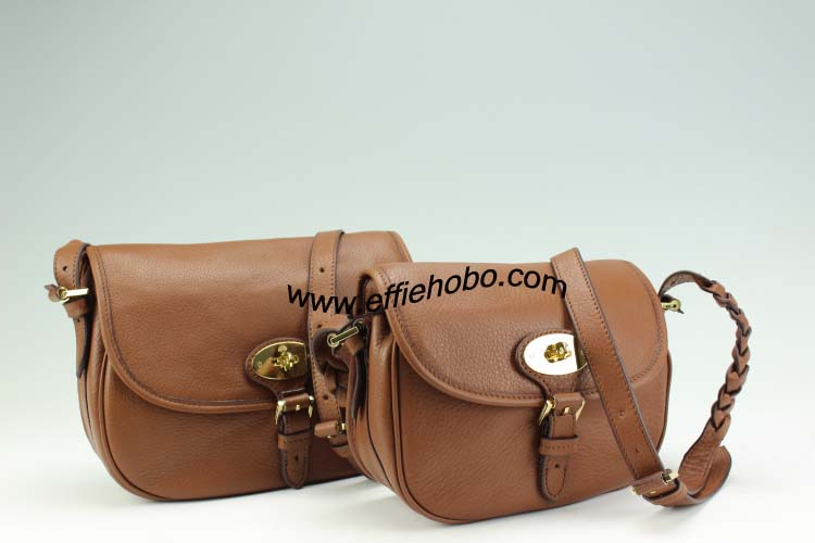 Mulberry Delilah Satchel Oak Small Grain Calf Leather