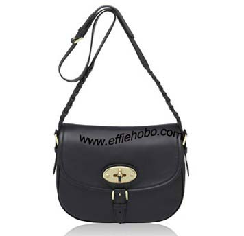 Mulberry Delilah Satchel Black Small Grain Calf Leather