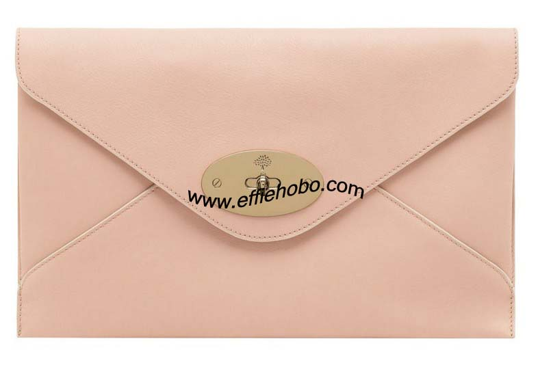 Mulberry Willow Clutch Nude Classic Calf Leather