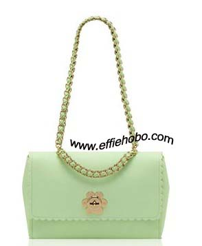 Mulberry Medium Cecily with Flower Mint Classic Calf Leather