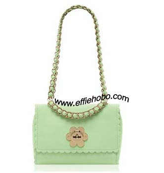 Mulberry Cecily with Flower Mint Classic Calf Leather