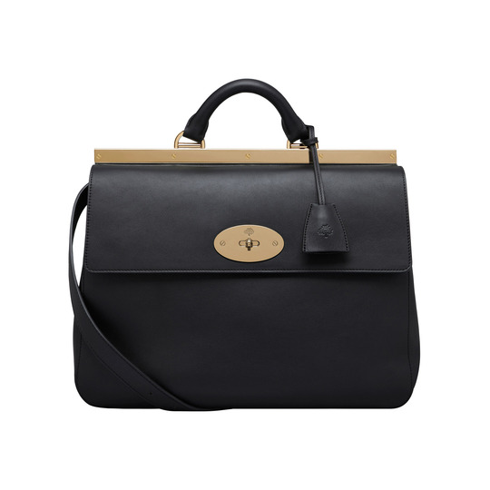 Mulberry Suffolk Handbag in Black Leather