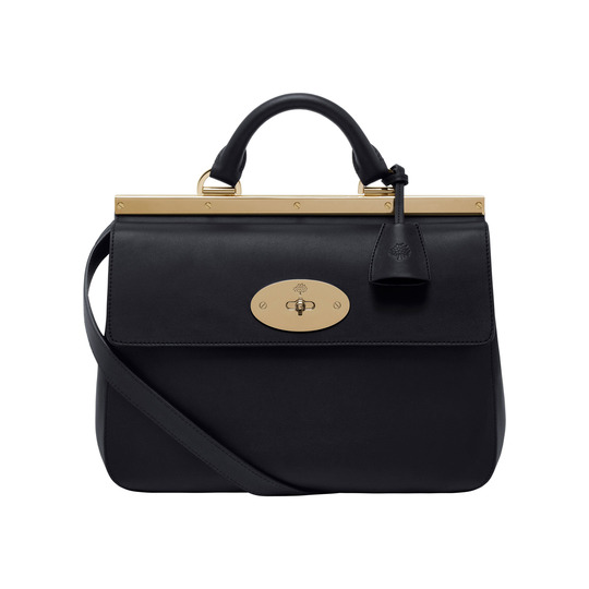 Mulberry Small Suffolk Bag in Black Leather